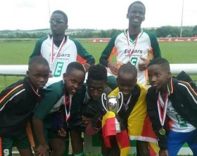 Ssali Alpha Thierry and his Edgars Youth Programme teammates
