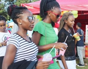 Revelers enjoy ice cream at a previous edition of the Kampala Ice Cream and Cake festival.