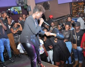 Fille performs at Fresh Fridays at Space Lounge