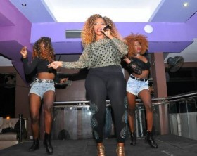 Liane Nakaweesi performs at Space Lounge