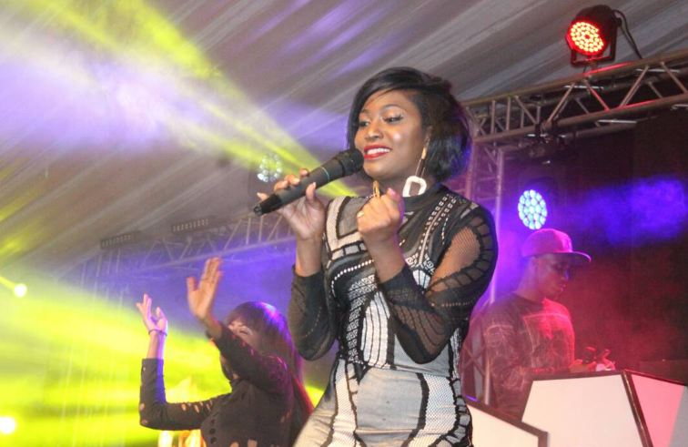 Irene Ntale performs at Club Dome held at International University of East Africa(IUEA)
