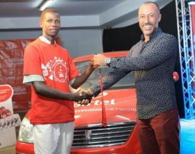 Muyingo Paul, a resident of Masaka, has won himself a brand new car in the 12th Mega Masappe draw
