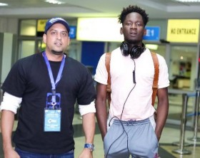 "Mr Eazi arrives in Uganda ahead of the ""Naija to Kampala"" concert"