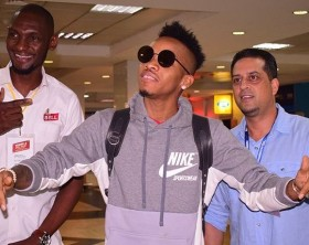 Tekno arrives in Uganda