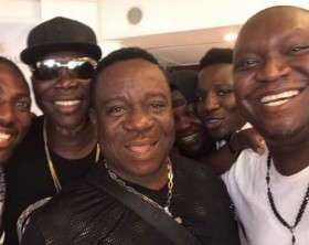 Salvado hanging out with top Nigerian comedians