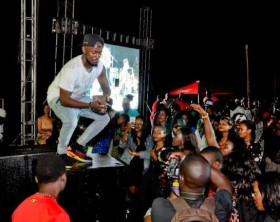 "Ykee Benda performing at a previous edition of ""Roast and Rhyme""."