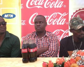 Radio and Weasel address media during a press briefing for their 10th anniversary concert