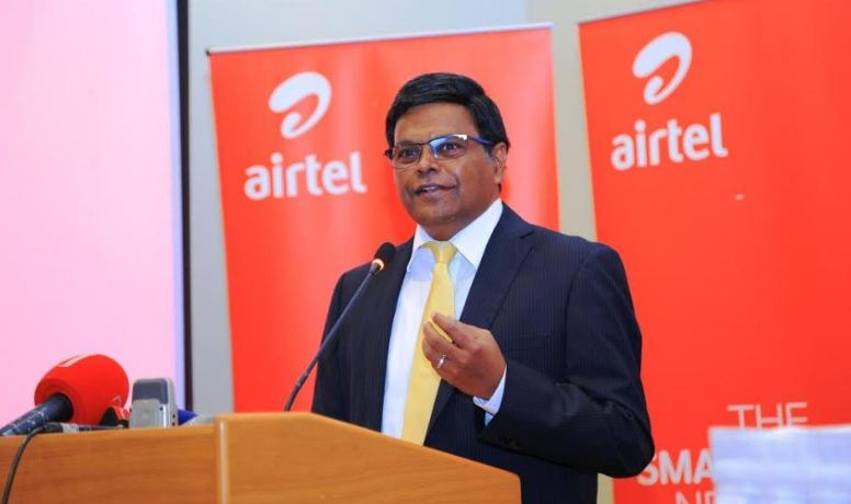 Airtel Uganda MD, V.G. Somasekhar addresses guests during the press conference.