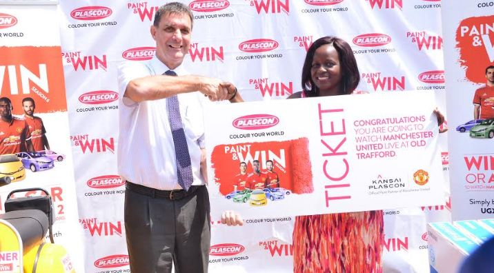 "Judith Ajambo, one of the winners in the ""Paint and Win"" promotion"