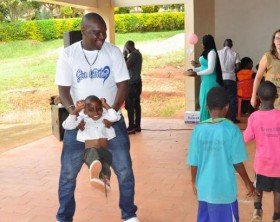 PatrickSalvado Idringi donates to Children at Angel's Centre for Children with special needs in Wakiso