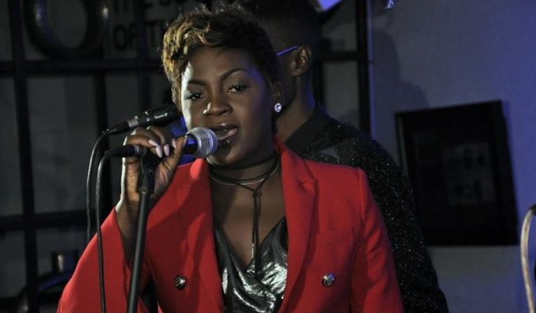 Iryn Namubiru at Liquid Silk Unplugged show