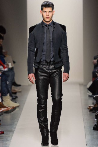 Fashion Tips: Turn up the heat in leather. (Men)