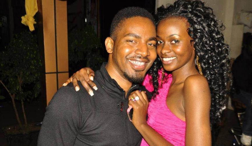 Hellen Lukoma poses with boyfriend Dean Nsubuga
