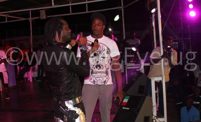 Bebe Cool and his son Allan Hendrik