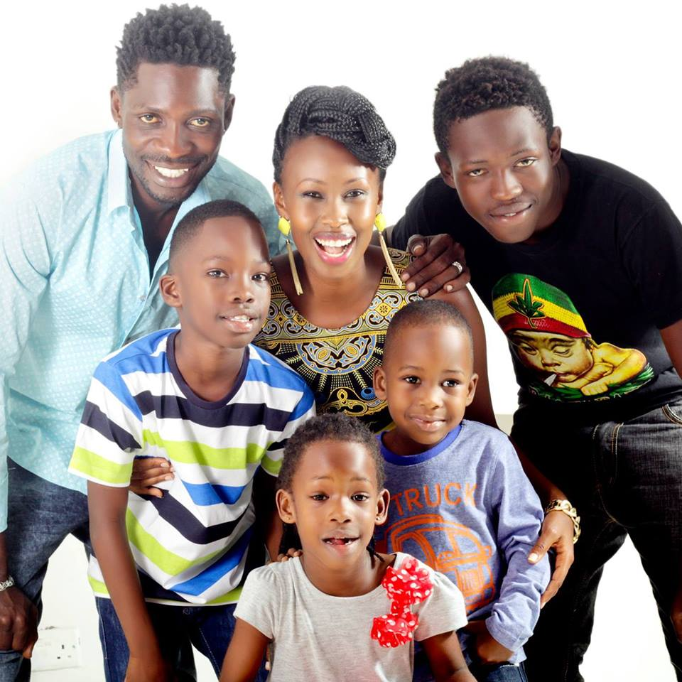 Bobi Wine and his family