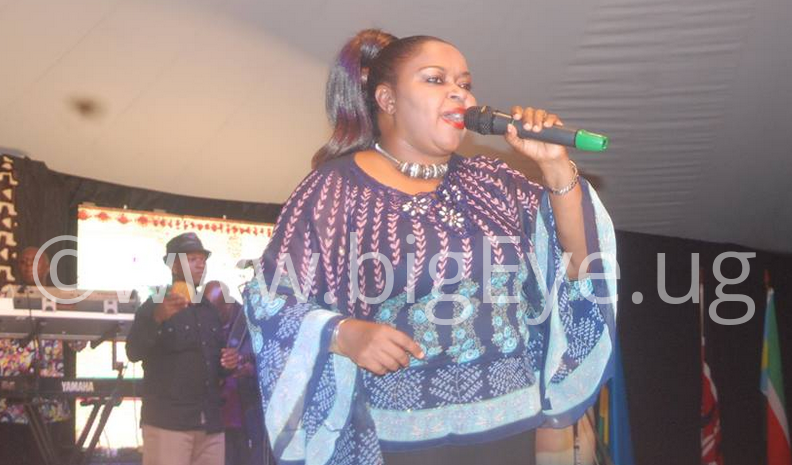 Joanita Kawaalya of Afrigo band performs at Mavuno Yetu festival