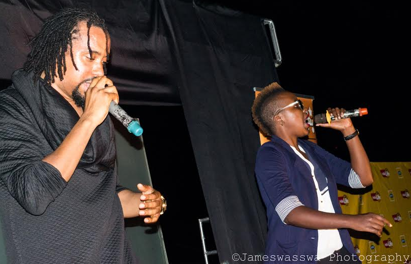 """Keko joins Navio on stage at """"The Chosen"""" album release party. Keko collaborated with Navio on his new album."""