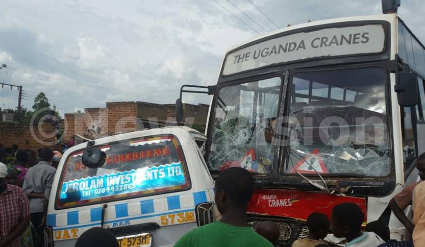 Uganda Cranes bus involved in accident