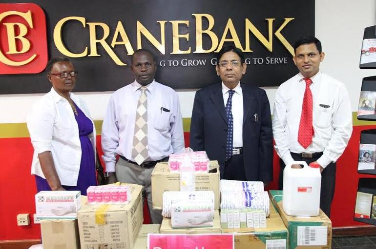 Crane Bank has donated medical supplies to Tender Hands Nursing Home in Lukaya, Masaka district.
