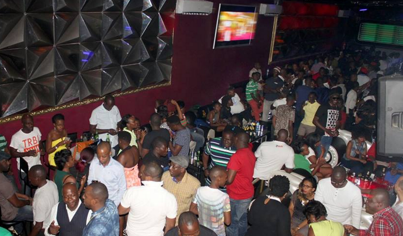 Revelers having a blast at Club Play recently.