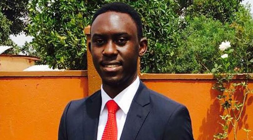 Victoria University guild president Keith Mugabi
