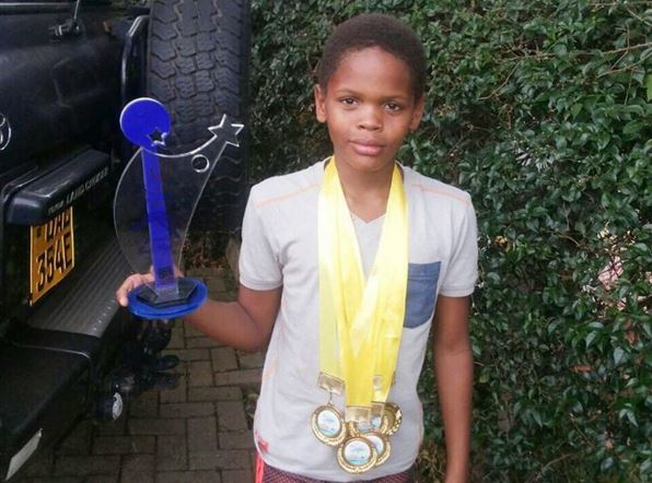 Abba Marcus wins best male swimmer award at Midland gala