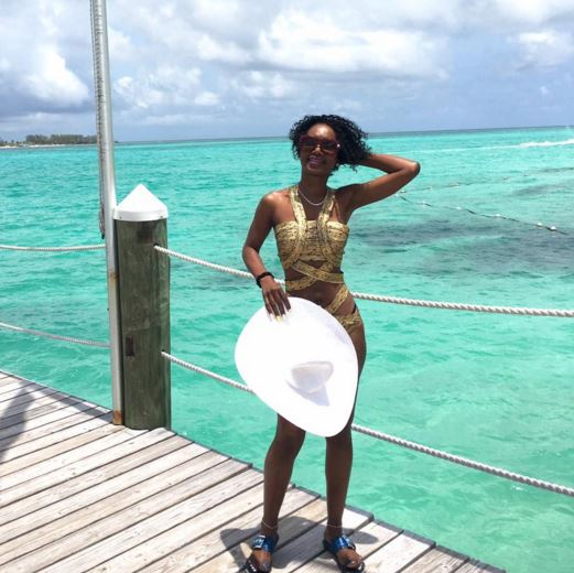 Barbara Kimbugwe enjoys life in the Bahamas