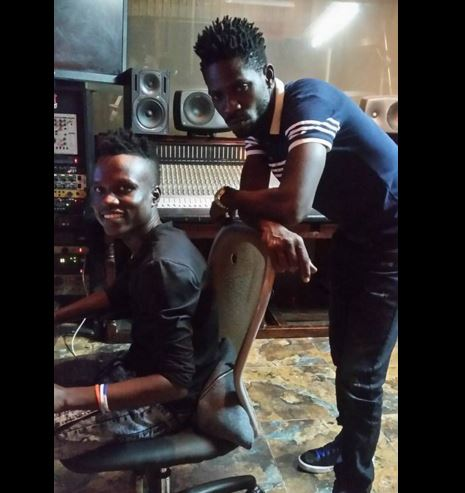 Bobi Wine in studio with producer Dan Magic
