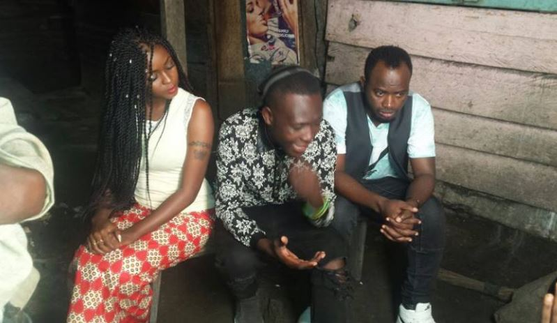David Lutalo and Grace Nakimera shoot Twala Ebyange video.