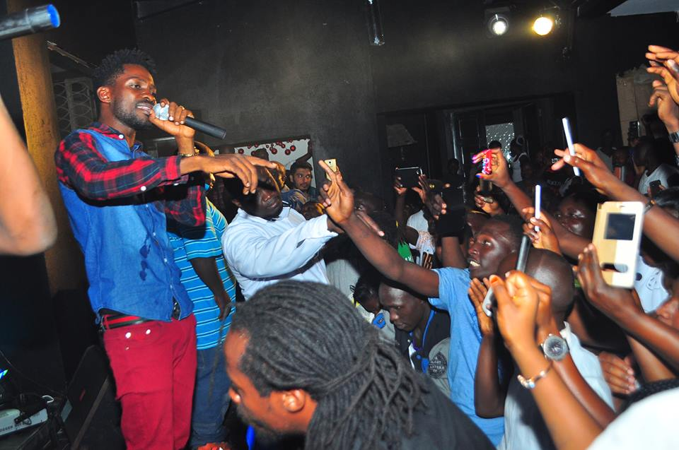 Bobi Wine performs at De Posh re-opening ceremony