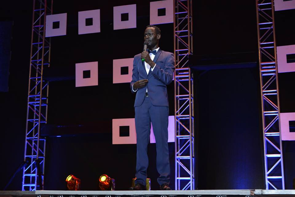 Napoleone performing at Africa Laughs Season 3