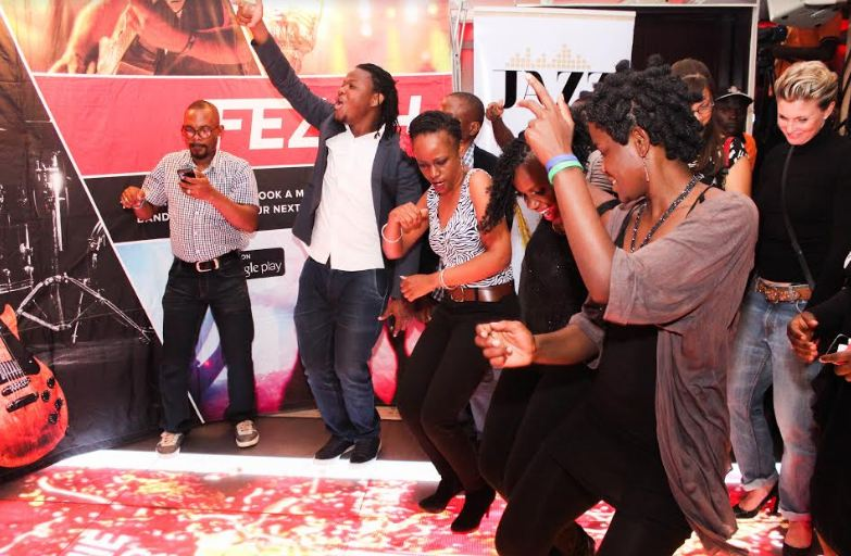 Fans dance to Njoroge's jazz tunes during the Johnnie Walker Jazz Night.