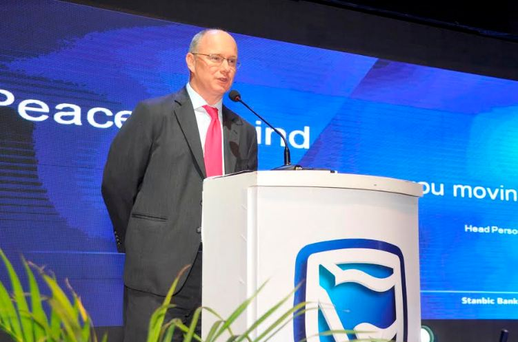Kevin Wingfield, Stanbic Bank ED & Head of Personel & Business banking delivers his speech