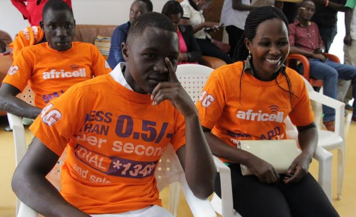 some of the prospective beneficiaries from Africell Uganda's partnership with the American Refugee Committee (ARC)