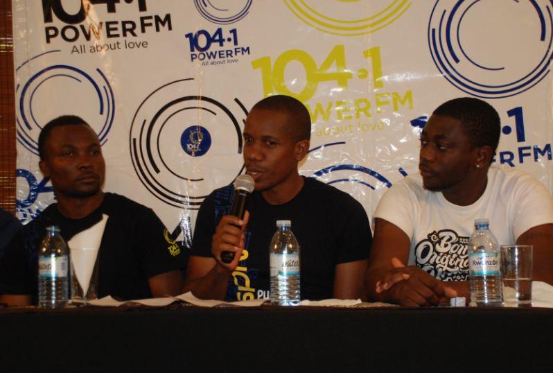 Peter Kakuru, the Managing Director at Power FM addresses the media
