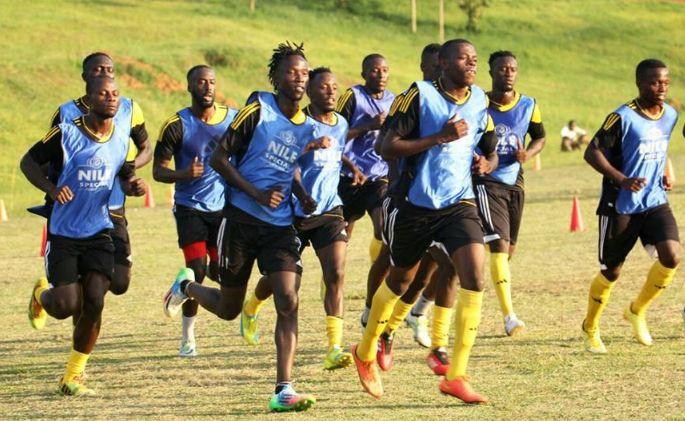 Uganda Cranes training
