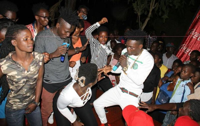 B2C perform at Raca Pond bar in Fort Portal