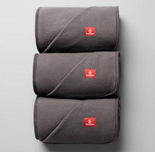 Emirates has introduced new sustainable blankets made from 100% recycled plastic bottles.