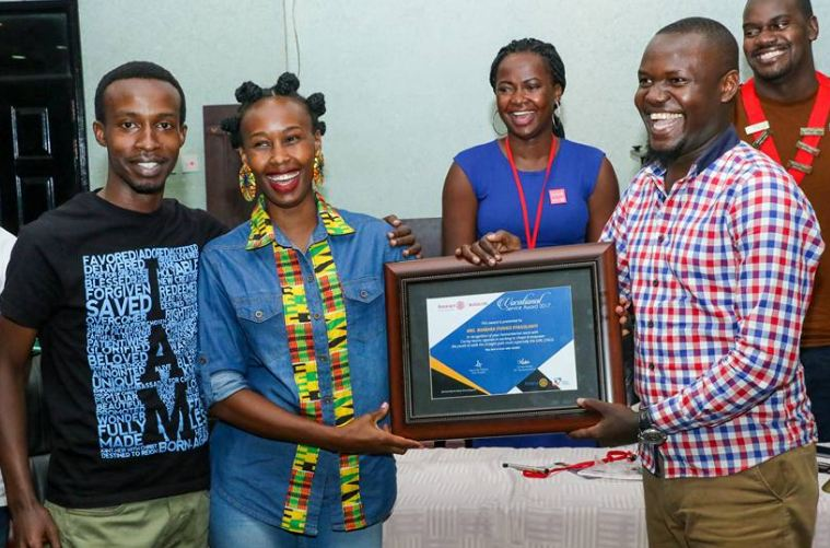 Barbie Kyagulanyi has been honoured for her humanitarian work.