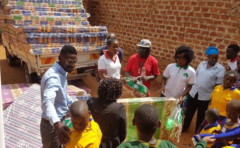 Bobi Wine and his wife Barbie in massive charity initiative