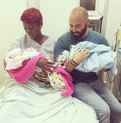 Dorah Mwima and hubby Nader Barrak welcome twins