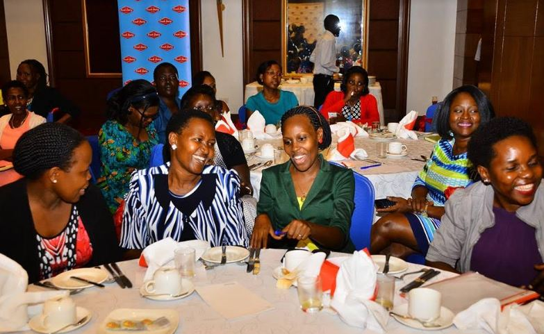 Some of the women who attended the International Women's Day breakfast organised by Fresh Dairy and Mama Tendo Foundation.