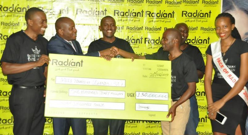 The Miss Tourism Uganda pageant has received a huge financial boost from Radiant Cosmetics