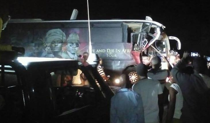 Sauti Sol tour bus accident
