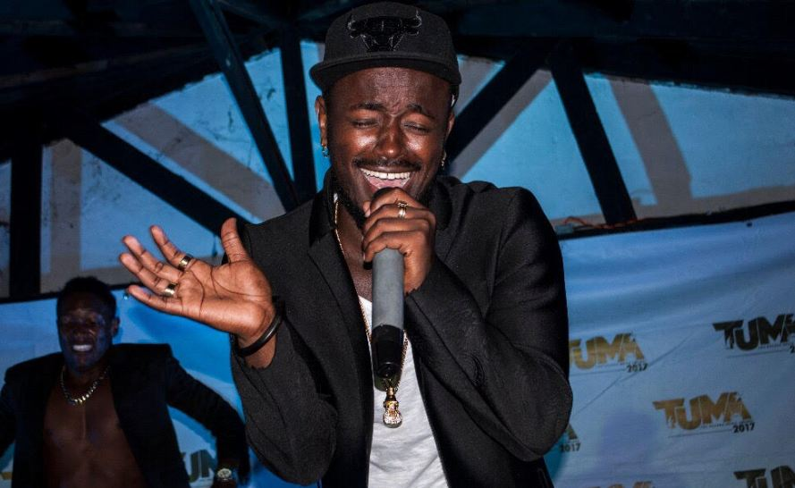 Ykee Benda entertains fans in Mbale