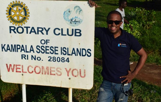 Urban TV's Denzel excited to be on Ssese Island.
