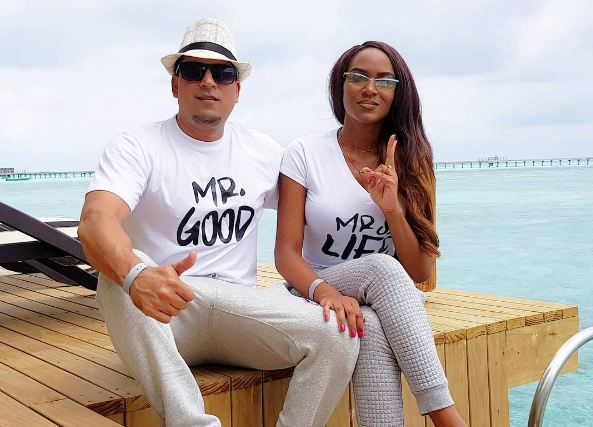 Aly Allibhai and wife Sylvia Namutebi on honeymoon in Maldives