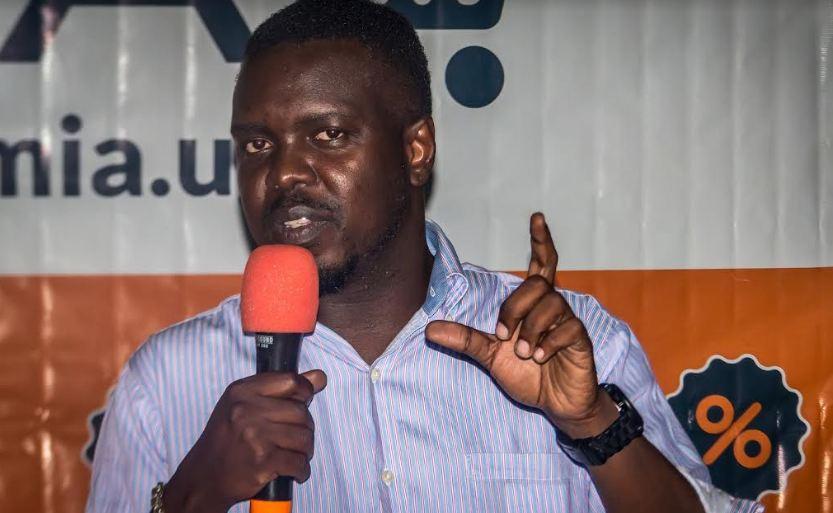 Jumia Uganda's Country Manager, Ham Namakajjo addressing media