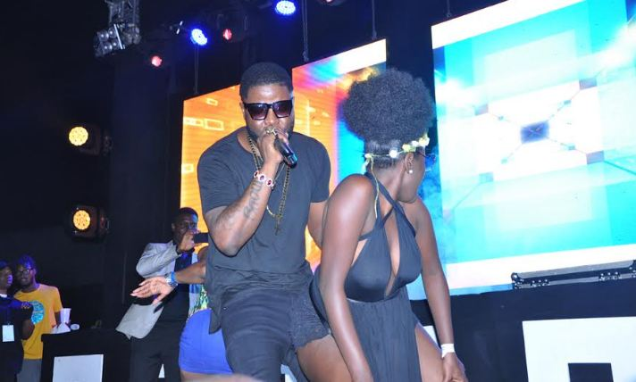 Skales performs at the Ciroc Pool Party
