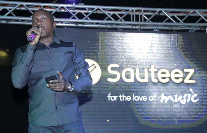 Julius Kyazze officially unveiling the Sauteez music streaming app